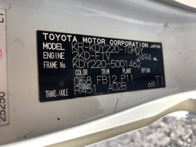 TOYOTA TOYOACE 2005 ref: CCM5382012 (013)