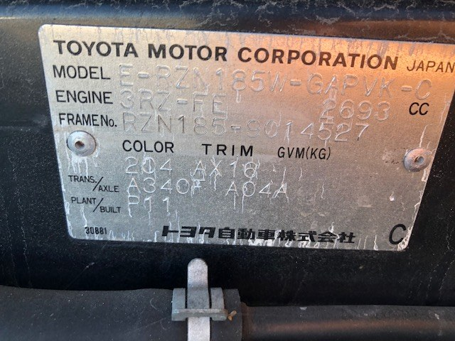 TOYOTA HILUX SURF 1998 ref: CCG2582011 (014)